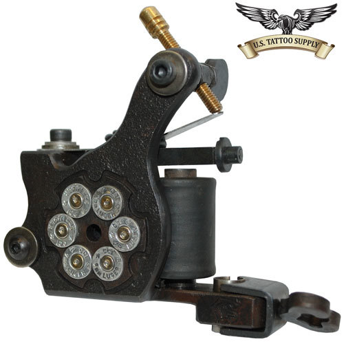 Iron silver bullet dial tattoo machine us tattoo supply for Tattoo machine online shopping in india